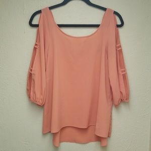 Tops - Peach Blouse